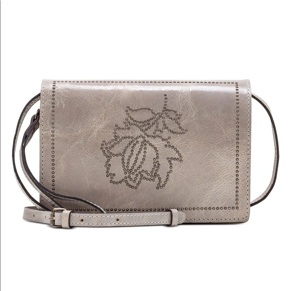 Patricia Nash Handbags - Patricia Nash Leather Studded Distressed Lanza